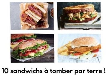 10 sandwichs