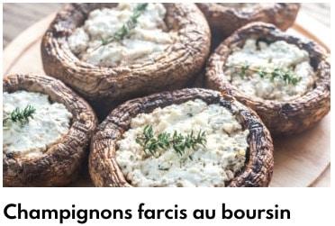 champignons farcis