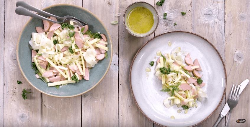 salade radis cervelas gruyère