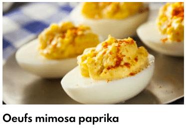 oeufs mimosa paprika