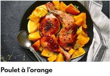 poulet à l'orange