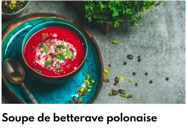soupe de betterave à la polonaise