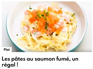 pâtes au saumon