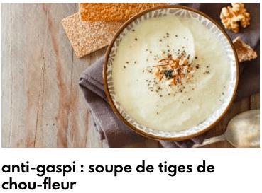 soupe de tiges de chou fleur