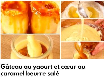 gâteau yaourt au caramel beurre salé