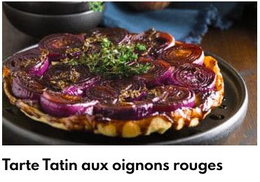 tarte oignons rouges