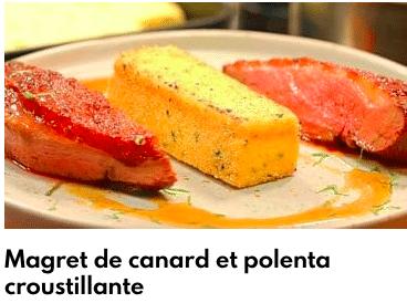 magret canard poenta