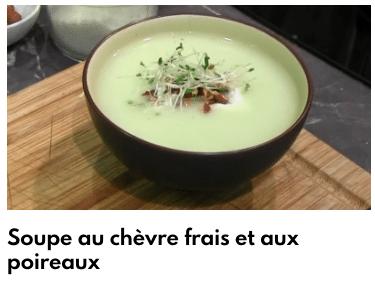 soupe chèvre et poireaux