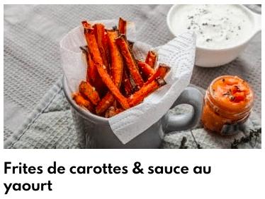 frites de carottes sauce yaourt
