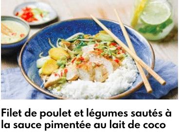 poulet sauce coco