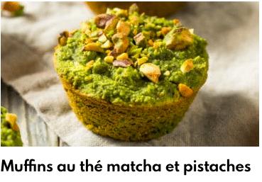 muffins thé matcha pistaches