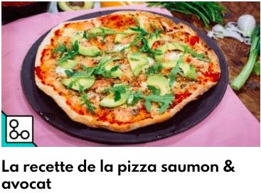pizza saumon avocat