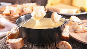 fondue gruyère morilles