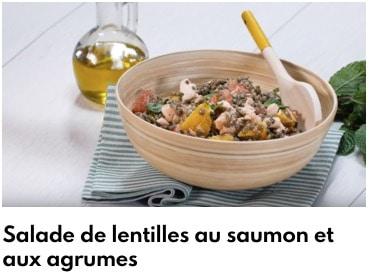 salade lentilles aux agrumes