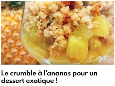 crumble ananas