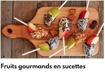 fruits en sucettes