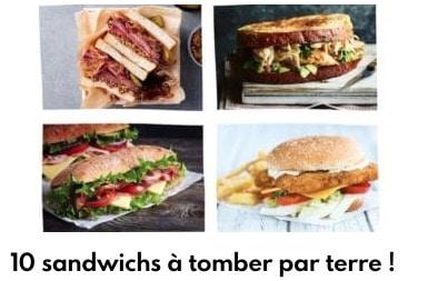 10 sandwichs à tombés par terre !
