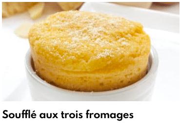 soufflé au trois fromages