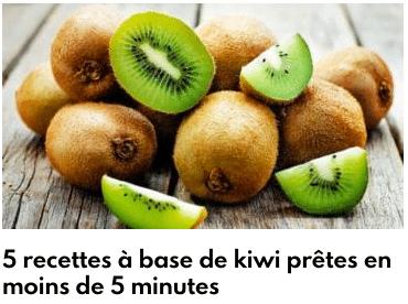 recettes kiwis