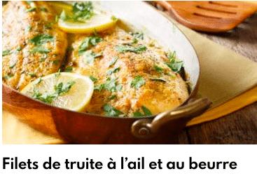 filet de truite ail beurre