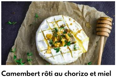 camembert rôti miel échalotes