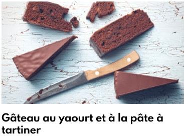 gâteau yaourt pâte à tartiner