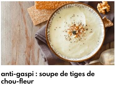 soupe tiges chou-fleur