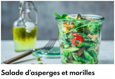 salade asperges aux morilles