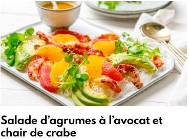 salade agrumes chair de crabe