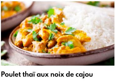 poulet thai noix de cajou