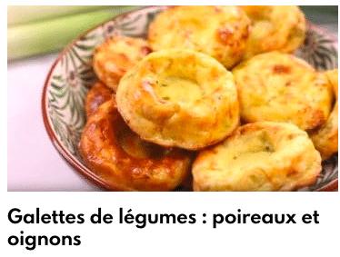 galettes de légumes poireaux et oignons