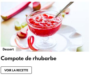 compote rhubarbe