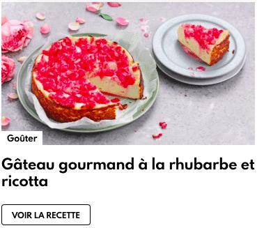 gâteau rhubarbe ricotta