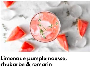 limonade pamplemousse rhubarbe romarin
