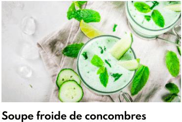 soupe concombre froide
