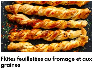 flûtes feuilletées au fromage