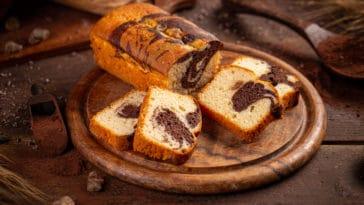 cake marbré au gingembre
