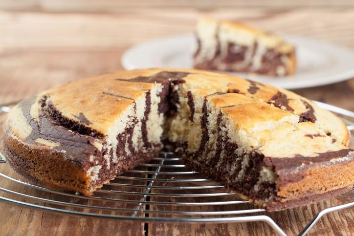 gâteau marbré sans oeufs