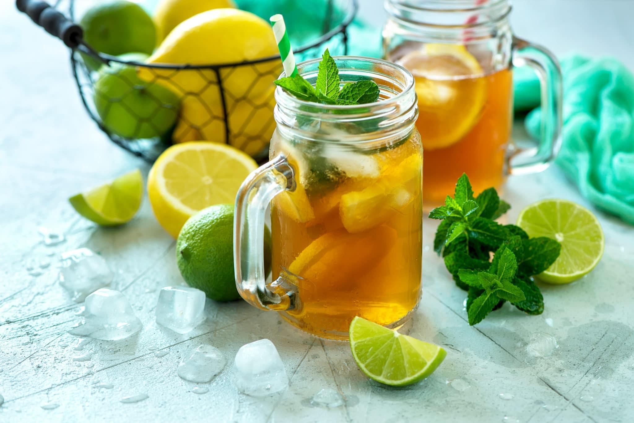 thé glacé, ice tea