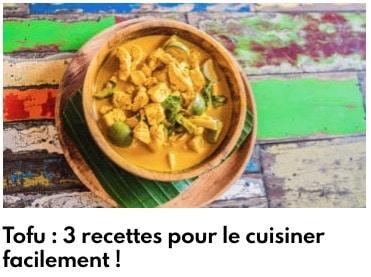 recettes tofu