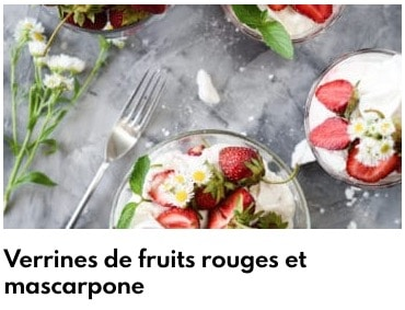 verrines fruits rouges mascarpone