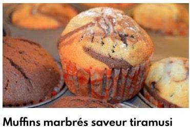muffins saveur tiramisu