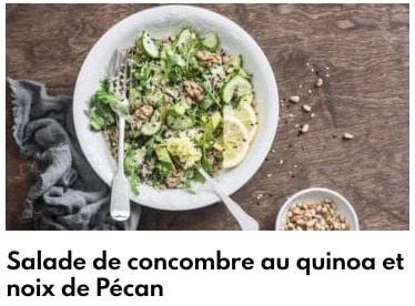 salade concombre quinoa