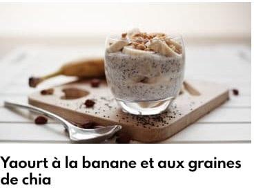 yaourt graines de chia banane