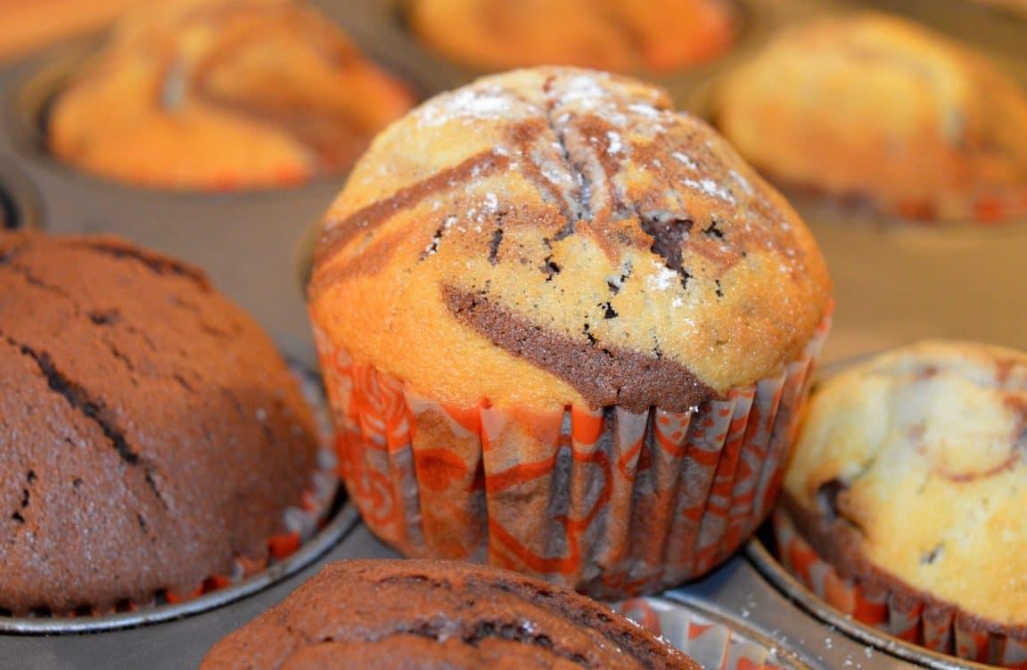 muffin marbré tiramisu