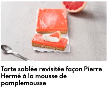 tarte sablée pamplemousse