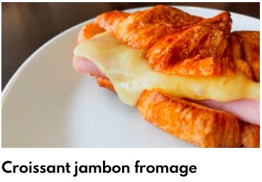 croissant jambon romage