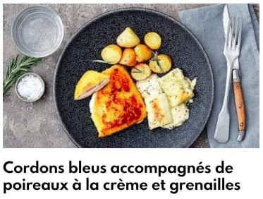 cordons bleu pommes de terre grenailles