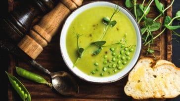 soupe de cosses de petits pois