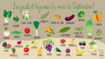 fruits et légumes septembre